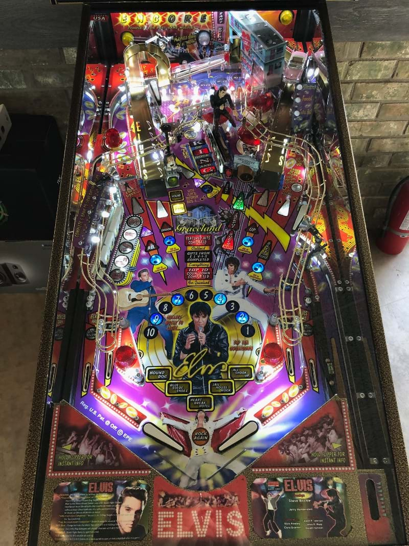 Exclusive Elvis Pinball Machine
