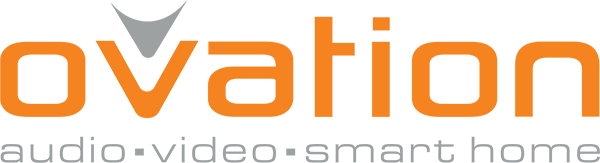 Ovation 'Audio, Video, Smart Home' Logo